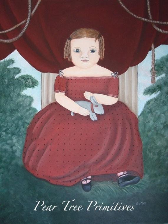 Little Miss Fairfield Early American Style Portrait