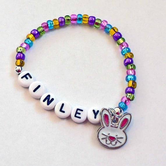spring easter jewelry for girls personalized name bracelets. Black Bedroom Furniture Sets. Home Design Ideas