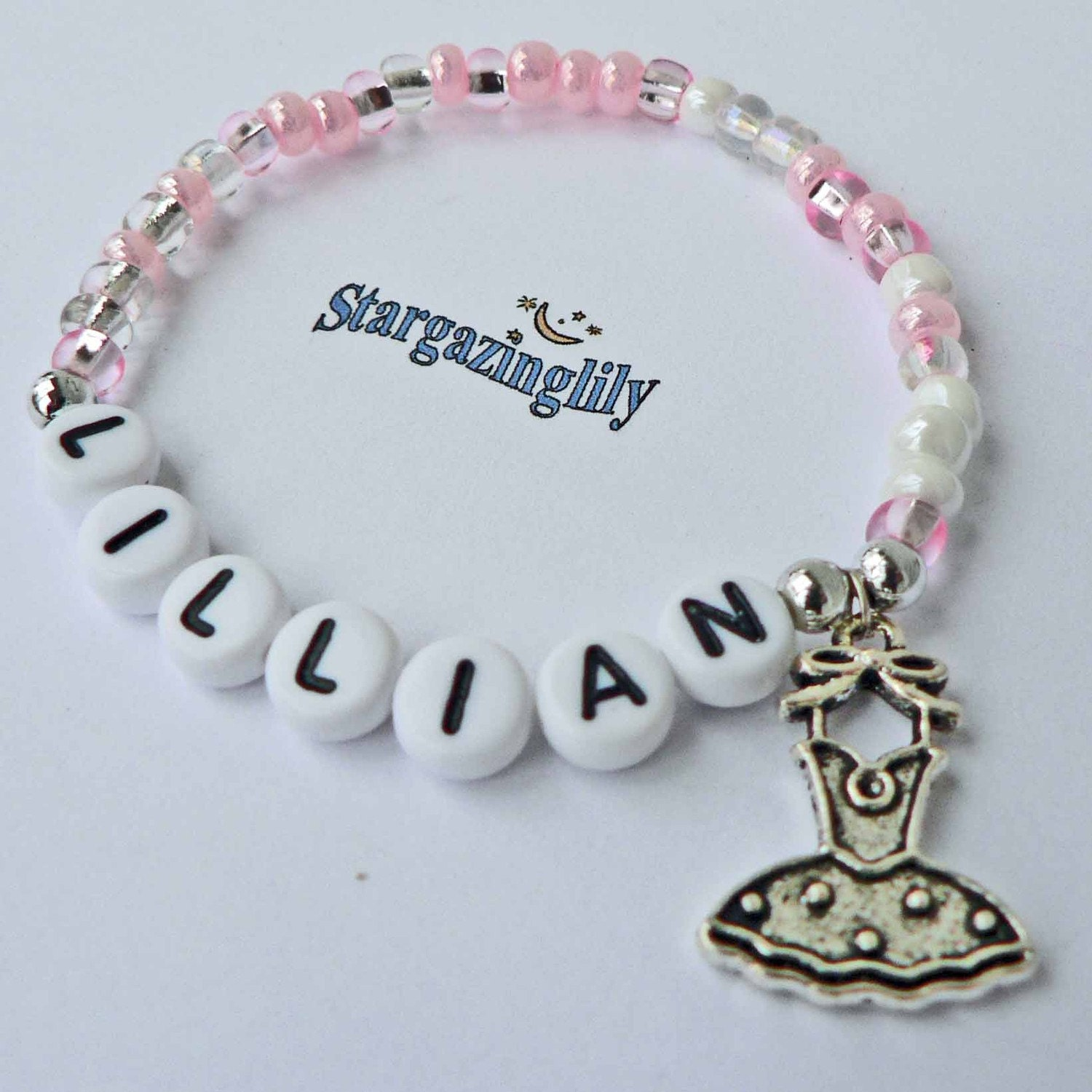 Personalized Bracelet Charms: Children's Jewelry Name Bracelet PERSONALIZED By