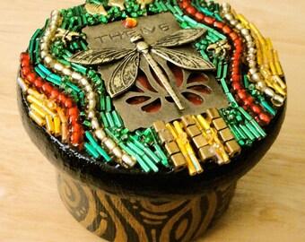 Thrive (Beaded Mosaic Jewelry Box)