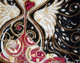 Losing Heart Beaded Mosaic Art