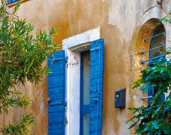 Blue Shutters in Provence 8X10
