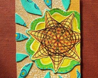 """Original ATC/ACEO - """"valence"""" - 057 - (abstract art collage on recycled paper)"""