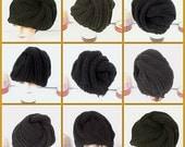Crochet Hat Womens Hat, Womens Summer Hat Women, Crochet Beanie Hat, DEITRA Turban, Black Hat in Cotton