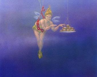 Fairy Cakes I - art print by Nancy Farmer