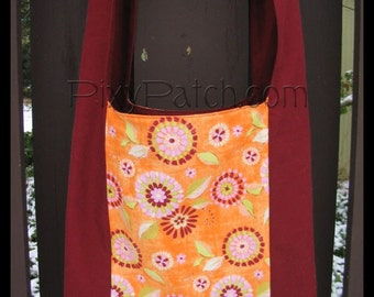 Maroon Flower Burst Melissa Sling Bag