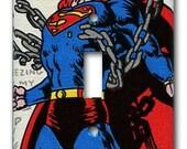 Superman Man of Steel 1970's Vintage Wallpaper Switch Plate