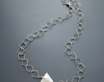 pyramid - sterling silver necklace