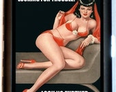 Looking for Trouble... Look No Further Cigarette Case or Business Card Case Wallet Pinup Retro
