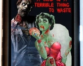 ZOMBIE Couple Cigarette Case Business Card case Wallet A Mind is a terrible thing to Waste Living Dead Gothic Horror