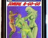Zombie A-Go-Go Cigarette Case Business Card Holder Wallet Retro Kitsch Vintage Pulp Sleaze Paperback