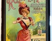 Victorian Absinthe Cigarette Case Wasp Waist Edwardian Trade Card Image Corset Fashion ID Business Card Credit Card Holder Wallet