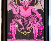 Devil Baphomet Cigarette Case Satan Tarot Card Satanic Satanism Paganism Pagan Witchcraft ID Business Card Credit Card Holder Wallet