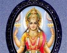Lakshmi Necklace Buddism Buddha Necklace Pendant Hindu Goddess of Wealth Fortune Beauty Pleasure & Abundance