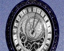 Astronomical Clock Steampunk Pendant Necklace Gothic Design