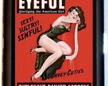 Burlesque Dancer Cigarette Case Stripper Pin-Up Girl Retro Rockabilly Pinup 50's ID Business Card Credit Card Holder Wallet