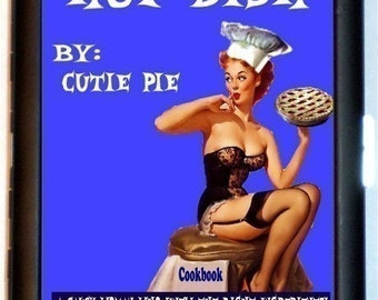 Housewife Pin-Up Cigarette Case Retro Hot Dish Pinup Girl 1950's Homemaker Cooking ID Business Card Credit Card Holder Wallet