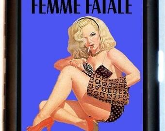 Femme Fatale Cigarette Case Business Card Case Wallet Rockabilly Pulp