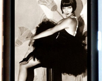 Vamp Pinup Flapper Cigarette Case Business card Holder or Wallet Bob hairstyle Dirty Thirties