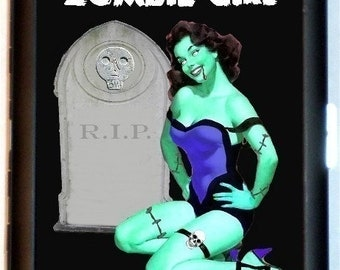 ZOMBIE Pin Up Cigarette Case Business Card Holder Wallet