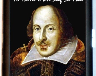 William Shakespeare Cigarette Case Business Card Case Wallet To Thine Own Self Be True Great Bard Hamlet