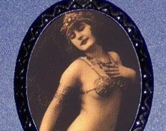 1920s Harem Woman Necklace Pendant Pin Up Glam Weird Cleopatra Like Mata Hari