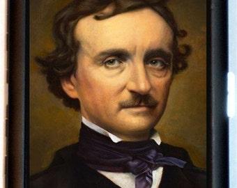 Edgar Allan Poe Cigarette Case Goth Horror Writer Portrait ID Business Card Holder Wallet