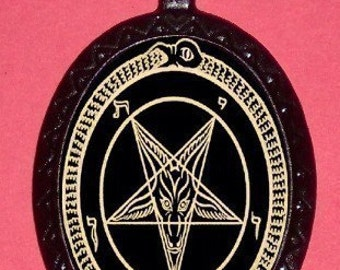 Satanic Pentagram Pendant Devil Worship Necklace Satanist Baphomet Satan Metal Evil Occult Rocker Heavy Metal