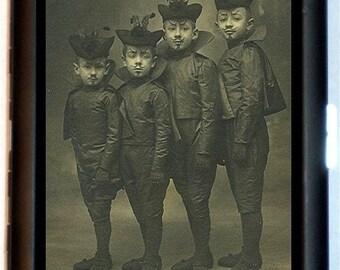 French Boy Devil Costumes Cigarette Case or Business Card Case Wallet