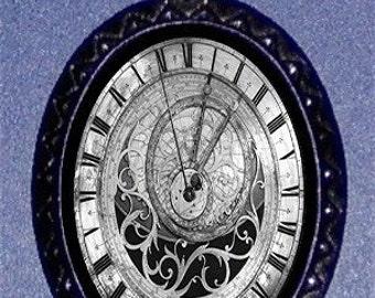 Astronomical Clock Steampunk Pendant Necklace Gothic Design