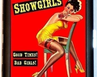 Pinup Showgirls Cigarette Case Burlesque Business Card Holder Wallet SEXY Pulp Kitsch Campy
