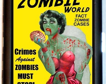 ZOMBIE World Detective Magazine Cigarette Case Business Card Case Wallet parody Living Dead Gothic Horror Kitsch Black Metal