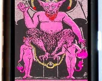 Devil Baphomet Cigarette Case Satan Tarot Card Satanic Satanism Paganism Pagan Witchcraft ID Business Card Credit Card Holder Wallet
