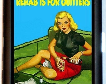 Rehab is for Quitters Cigarette Case Business Card Case Wallet