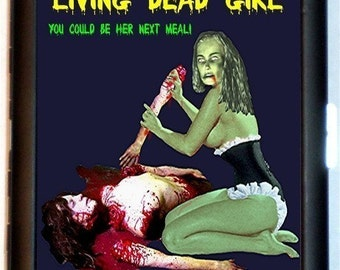 Living Dead Girl Zombie Cigarette Case Business Card Holder Wallet Pinup Zombie Girl