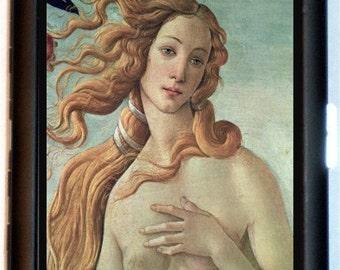 Birth of Venus Botticelli Cigarette Case Business Card Holder Wallet Renaissance Painting Fine Art Closeup of Venus