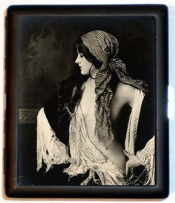 Art Deco Gypsy Cigarette Case German Hedonism Weimar Republic Roaring 20's Jazz Age Bohemian Boho ID Business Card Credit Card Holder Wallet