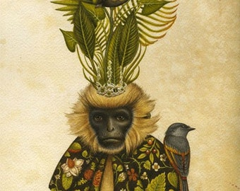 Memories Of Home - Limited Edition Print - Natural History Print - Monkey