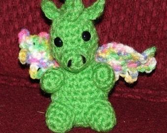 Baby Dragon - Crochet Pattern -PDF