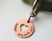 Your Pets Name Here - personalized copper custom pet ID tag