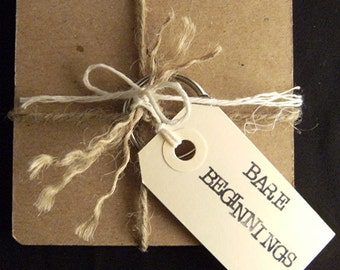 "Bare Beginnings 3.75"" X 3.75.in. Blank Chipboard SQUARE Album"