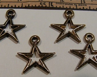 4 Charms STAR Pewter