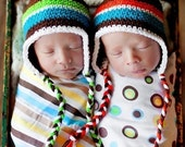 Baby Earflap Beanie - You pick colors