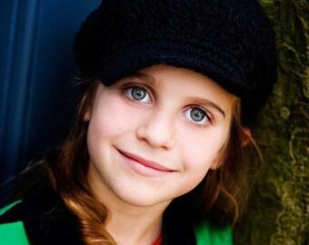 Children's Newsgirl Beanie - black