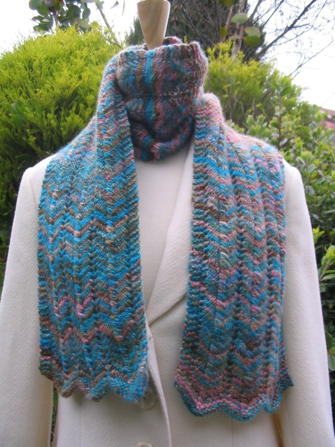 Scarf Knitting pattern for hand dyed yarn Knitting Pattern