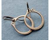 Pure Earrings - Smoke - Handmade Hardware Sterling Silver - Paw & Claw Designs