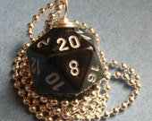 Dungeons and Dragons - D20 Dice Necklace - Smoke Borealis - Geek Gamer DnD Role Playing RPG