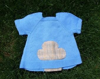 little cloud handknit little girls sweater blouse