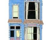 House On 18th St, San Francisco - Postcard