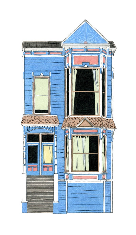 House On 18th St, San Francisco - Postcard
